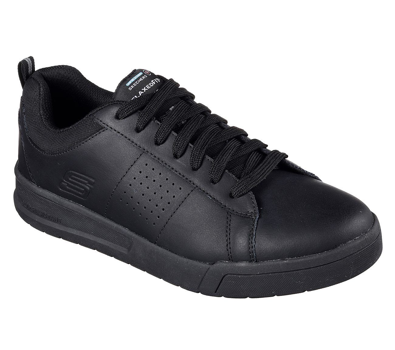77101 Skechers for Work Men's Burgin Glenner SR shoes Black