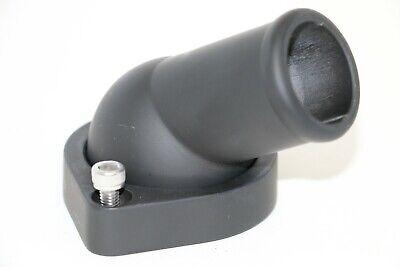 Fits Chevy LS 45 Degree Swivel Water Neck Black Aluminum Finish