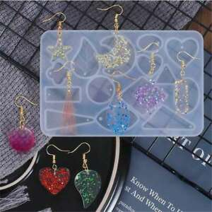 Silicone Earring Pendant Mold Jewelry Making Resin Casting Mould DIY Crafts New
