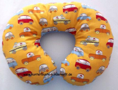 Nackenstütze Nackenhörnchen  Autoracing Nackenkissen mit lustigen Autos  gelb