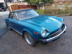 1975 Fiat 124 Spider Convertible - Running Project