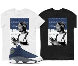2 Pac Air Jordan 13 Flint Grey Match T Shirt Adult And Youth Shirt
