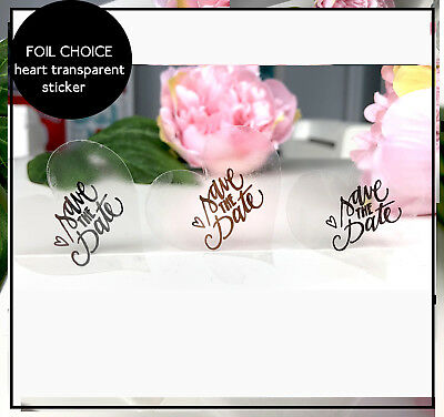 24 Personalised Floral Save The Date Wedding Birthday Stickers Seal Label 45mm