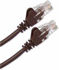 3m Cat5 RJ45 Red Ethernet 10/100 cable de parche LAN Largo Marrón web de banda ancha
