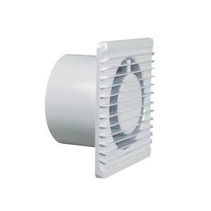 Wohnraumventilator-100erR-Blanco-Con-con-Higrometro-para-Pared-Bano-Bano-Eetc