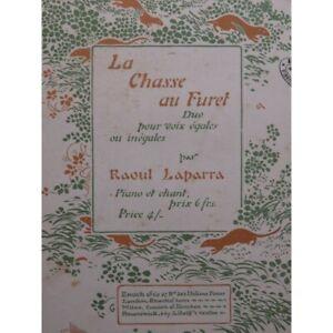 LAPARRA-Raoul-La-Chasse-au-Furet-Chant-Piano-ca1902-partition-sheet-music-score