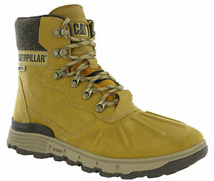 CAT Caterpillar Stiction Ice Ankle Boots Mens Waterproof Leather Casual Shoes