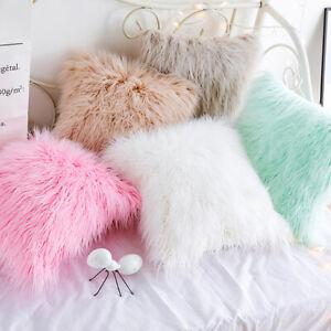 Plush-Cushion-Cover-Sofa-Waist-Throw-Pillow-Case-Car-Seat-Square-Home-Decor