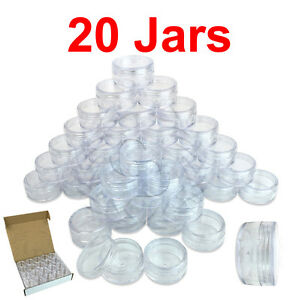 20-Packs-10-Gram-10ML-High-Quality-Cream-Cosmetic-Sample-Clear-Jar-Containers