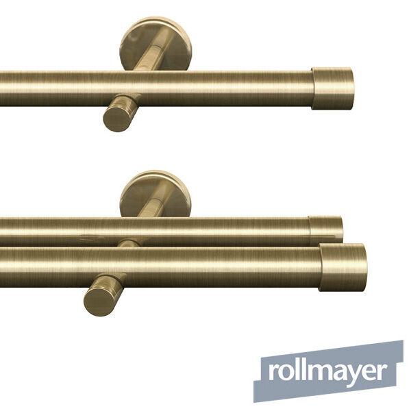 Cortinas barra 16mm metal Antik oro fijación de parojo 120-600 cm Crux