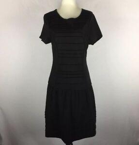 TARGET-Women-039-s-Size-10-Black-Short-Sleeve-Stretch-Jersey-Dress-BNWT