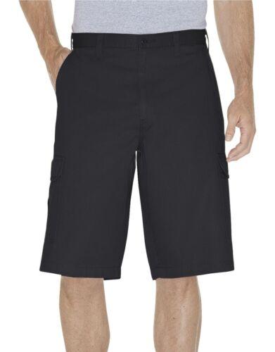 """Dickies Mens RINSED BLACK 13/"""" Loose Fit Cargo Shorts 43214RBK"""