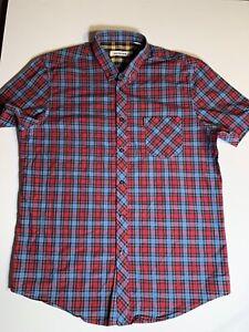 Ben-Sherman-Check-Men-039-s-Short-Sleeve-Shirt-Size-XL