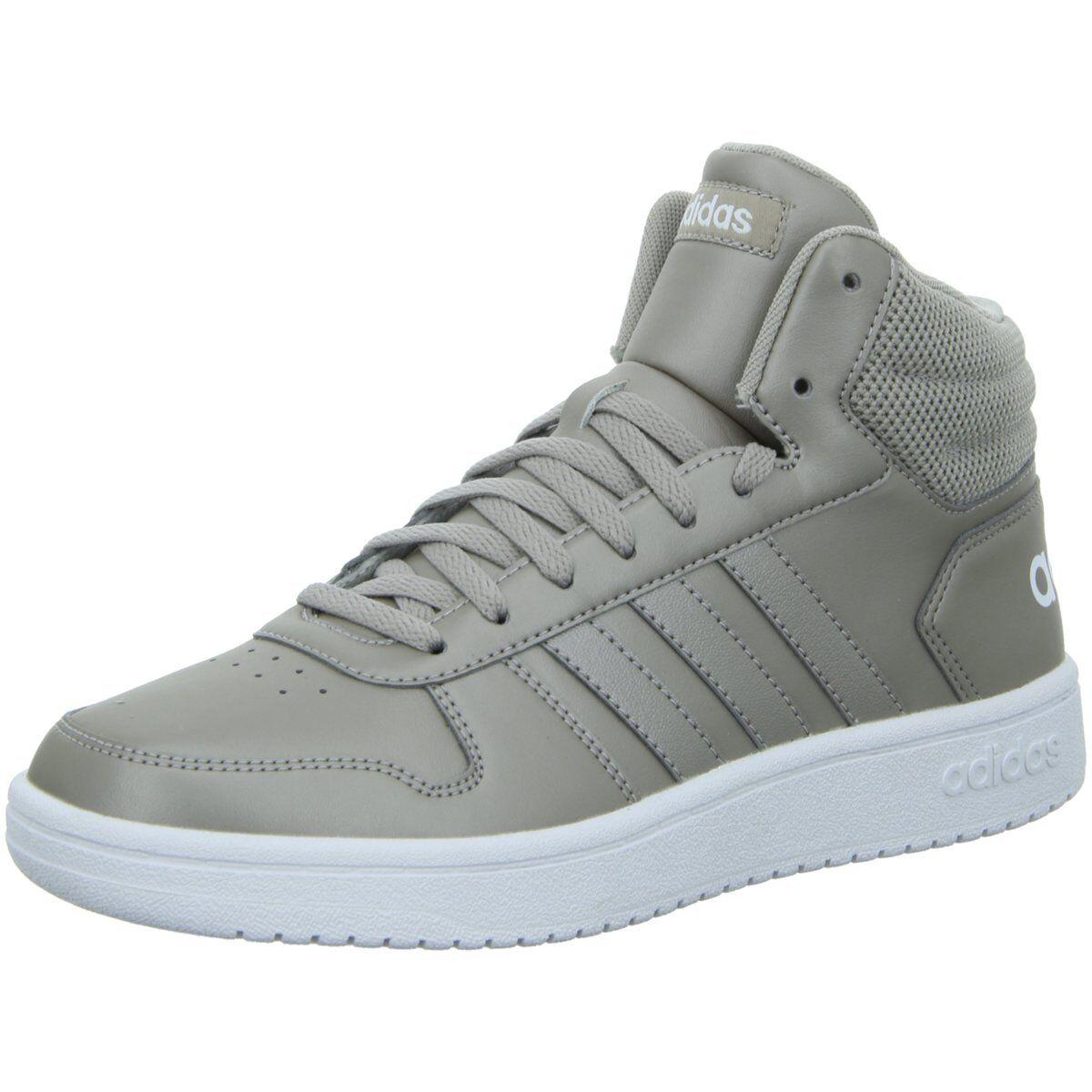 Adidas Damen Turnschuhe Hoops 2.0 Mid F34807-Hoops-2.0-MD grau 484171