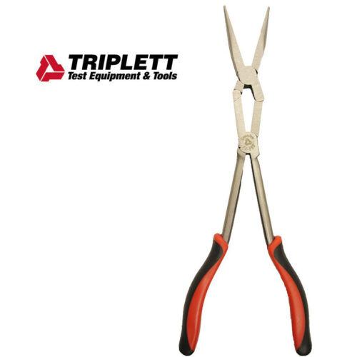 """Triplett CrossJaw Extended Reach Needle Nose Pliers Long Double X 14/"""" TT-260"""