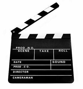 Regieklappe-Kameraklappe-Filmklappe-Hollywood-Holz-30-x-26-cm-Movie-Film-Tafel