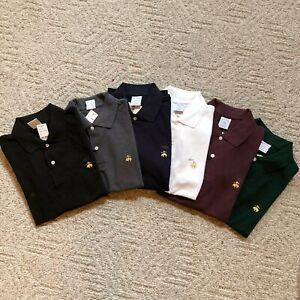 NWT-Brooks-Brothers-Men-039-s-Slim-Fit-Golden-Short-Sleeve-Performance-Polo-Shirt