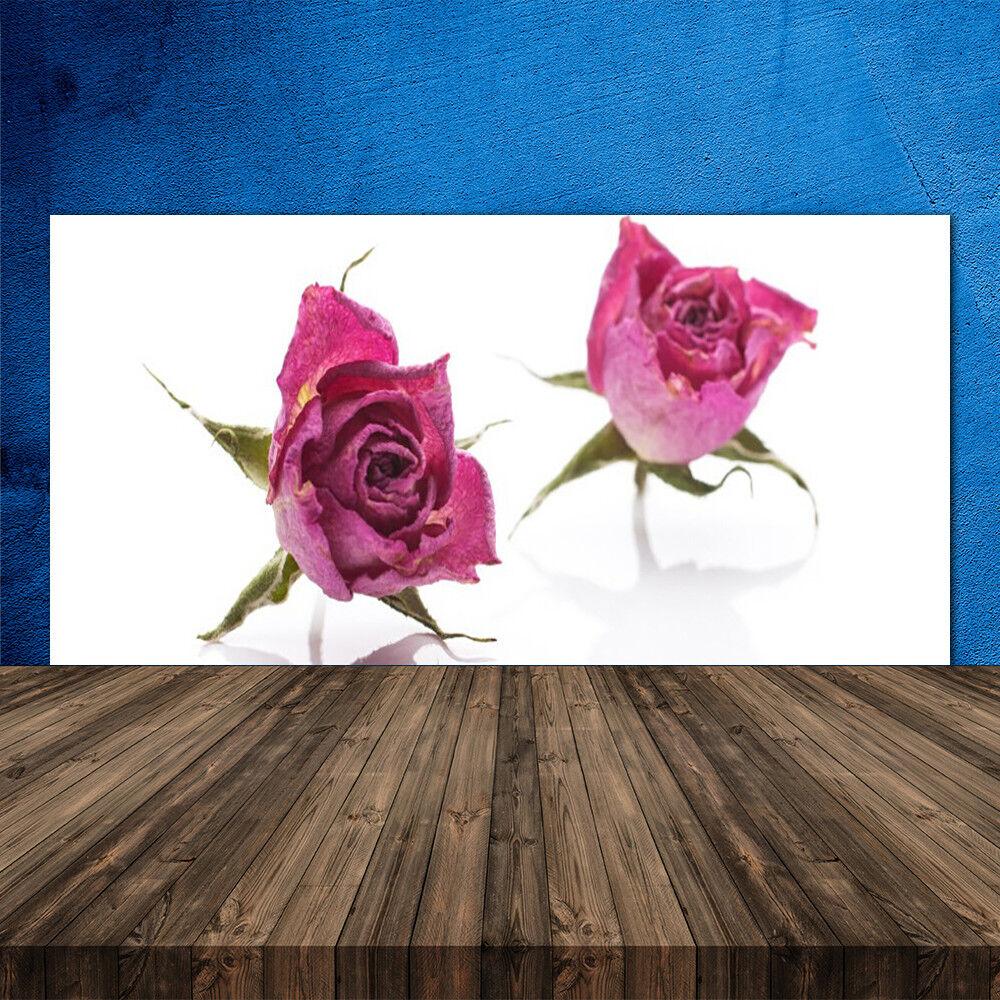 Crédence de cuisine en verre verre verre Panneau 120x60 Floral Rosas afa2fe