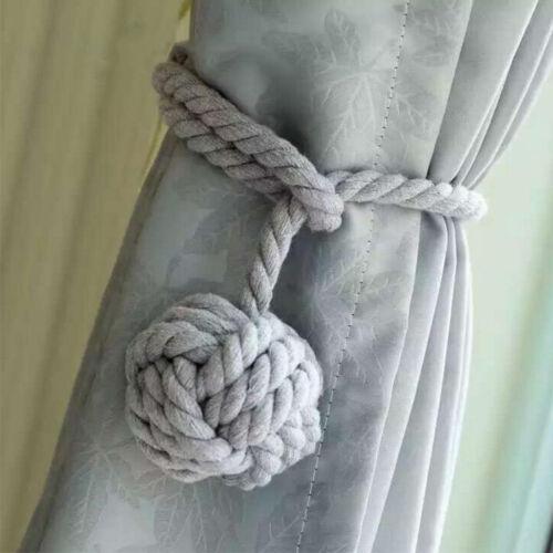 2pcs embrasse retenues cordes de rideaux à la main balles boucles