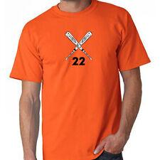 Baseball Softball Crossed Bats Custom # Your Number T-Shirt Custom Team Shirts