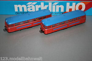 Maerklin-3140-Schienenbus-mit-Beiwagen-Steiermaerkische-Landesbahn-Spur-H0-OVP