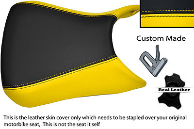 YELLOW AND BLACK CUSTOM FITS APRILIA RS125 RS 125 06-10 LEATHER SEAT COVER