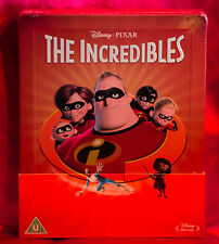 The Incredibles Zavvi Steelbook Blu Ray Disney Sold Out Region Free Embossed,NEW