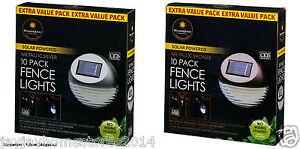 Energie Solaire Ultra Bright Led Clôture Lumières 10pk-décoration De Jardin-afficher Le Titre D'origine Par Processus Scientifique