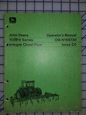 John Deere Operators Manual 100ifh Series Integral Chisel Plow
