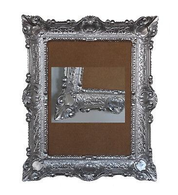 Antique Baroque Picture Frame Silver 56x46 Rectangular Repro 30x40 | eBay