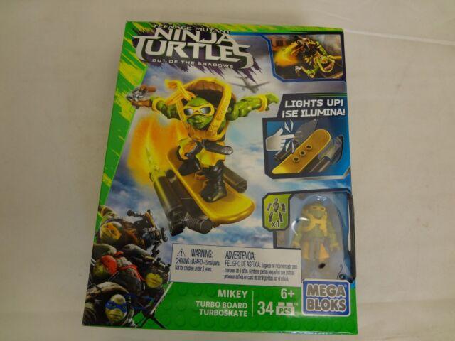 Teenage Mutant Ninja Turtles Mikey Turbo Board Mega Bloks Out of the Shadows