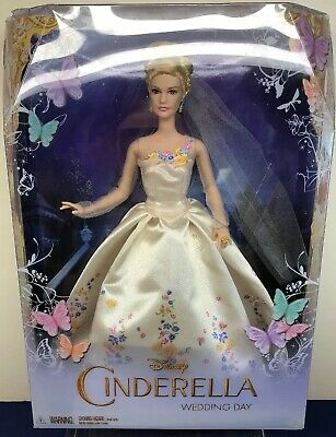 "12"" Disney Mattel Barbie ""Cinderella Wedding Day"" Bride Princess NRFB Mint #B"