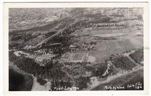 AERIAL-VIEW-Fort-Lawton-SEATTLE-Washington-c1940-Photo-POSTCARD-Magnolia
