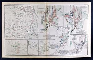 Civil War Map Chickamauga Georgia Battlefield Army Of Missouri