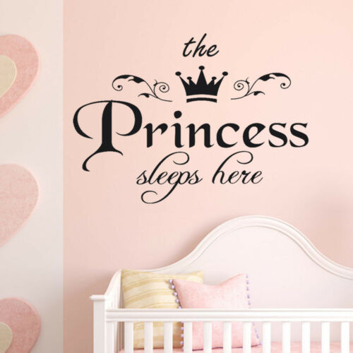 Cute Lovely Princess Decal Trendy Living Room Bedroom Decor Carving Wall Sticker