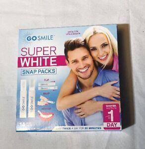 Go Smile Super White Snap Packs 14 Count Nib Ebay