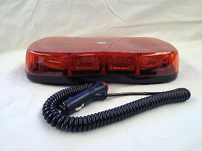 LED AMBER FLASHING LIGHT BAR MAGNETIC BASE HAZARD WARNING BEACON 12/24V LIGHTBAR