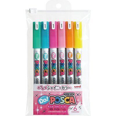 Uni POSCA DO JAPAN Drawing Pen Pens 6 Shiny colors PC1MDS6C