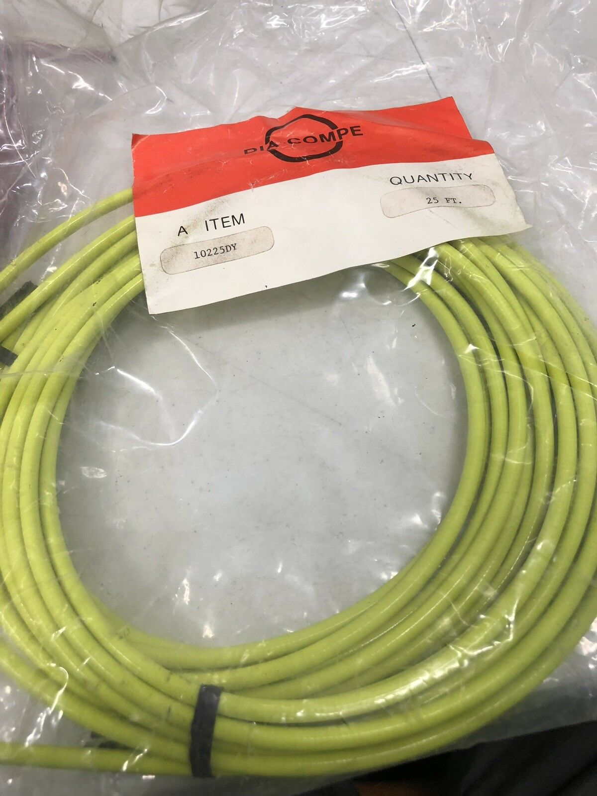 Dia Compe Lined Brake  Cable Housing 25Ft. Neon   Yellow Vintage BMX Bicycle  hot limited edition