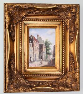 345e24cd65fb Image is loading J-Morris-19th-Century-Antique-Oil-on-Canvas-