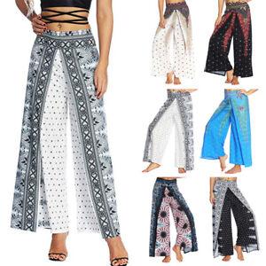 d4e9fb31b3 Womens Baggy Harem Pants Yoga Gym Dance Hippie Boho Gypsy Loose ...