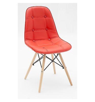 Set 2 sedie ecopelle Rosso, con bottoni Sedia col. Rosso,con bottoni. SET 2   eBay