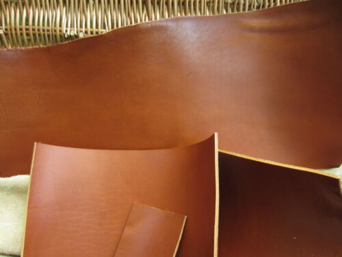 """SADDLE TAN VEG TANNED HIDES LEATHER PIECE 16/""""x8/"""" for leather craft SHEATH HOLDER"""