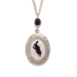 White-rabbit-locket-cameo-necklace-Alice-in-Wonderland-steampunk-victorian-goth