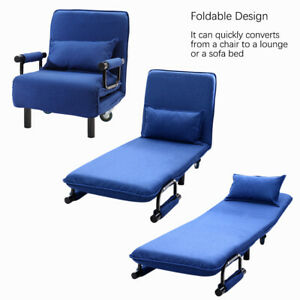 Details About Foldable Recliner Sofa Bed Lounge Tub Armchair Fabric Linen Couch Single Uk