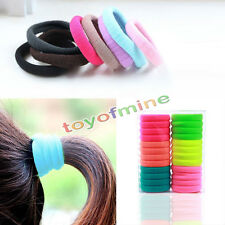 10pcs Quality Girl Candy Fluorescence Elastic Hair Holder Rope Ring Rubber Bands
