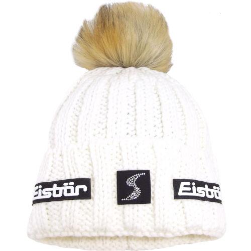 Eisbär Jolo Lux Crystal SP Damen Winter-Strickmütze weiß