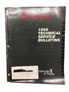 Toyota Tecnico Servizio Bulletins Manuale Auto 1999 Libro Modelli
