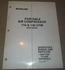 Sullair 110 130 John Deere Air Compressor Parts Operation Maintenance Manual