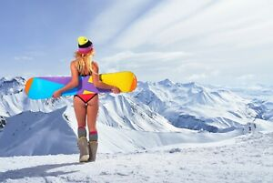 A1-Snowboard-Chick-Poster-Art-Print-60-x-90cm-180gsm-Mountain-Girl-Gift-8413